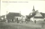 CPA - 18 - JUSSY Le CHAUDRIER - Grande Rue Et église - ANIMATION - Environs BAUGY, NERONDES, SANCERGUES - CHER BERRY - France
