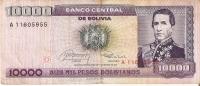 BILLETE DE BOLIVIA DE 10000 PESOS  DEL AÑO 1984 SERIE A    (BANKNOTE-BANK NOTE) - Bolivia