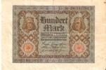 BILLETE DE ALEMANIA DE 100 MARCOS DEL AÑO 1920 (BANKNOTE-BANK NOTE) - 100 Mark