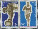 FN0621 Polynesia 1969 Games Race Boxing 2v MLH - French Polynesia