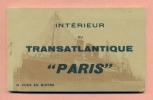 """CARNET 12 VUES - BATEAU - INTERIEUR DU TRANSATLANTIQUE  """" PARIS  """"  - - Paquebots"""