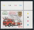 Tuvalu MNH Scott #852 $1.50 Bronto 33-2T1 Combined Telescopic Ladder/Hydraulic Platform - Fire Trucks - Tuvalu