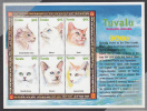 Tuvalu MNH Scott #840 Sheet Of 6 90c - Domestic Cats - Tuvalu