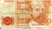 200 Pesetas 18.09.1980 Espagne - Spain Banknote - [ 4] 1975-… : Juan Carlos I