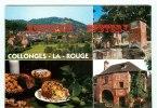 19 - COLLONGE LA ROUGE - 3 Vues Du Bourg + Gateau Aux Noix - Dos Scané - Zonder Classificatie