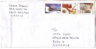 GOOD GREECE Postal Cover To ESTONIA 2011 - Good Stamped - Greece