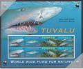 Tuvalu MNH Scott #816a Souvenir Sheet Of 2 Strips Of 4 Sand Tiger Shark - World Wide Fund For Nature - Tuvalu