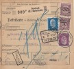 DR Paketkarte Mif Minr.2x 343,416,418 Deesbach (Kr. Rudolstadt) 30.9.31 - Briefe U. Dokumente