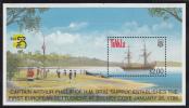 Tuvalu MNH Scott #794 Souvenir Sheet $2 H.M. Brig 'Supply' At Sydney Cove, 1788 - Australia '99 - Tuvalu
