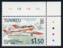 Tuvalu MNH Scott #766 $1.50 De Havilland DHC 1 Chipmunk - 80th Anniversary Of The Royal Air Force - Tuvalu