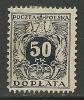 POLEN Poland Polska 1921 Revenue Tax Stamp Steuermarke 50 MK (*) - Revenue Stamps