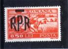 Sello De Romania Año 1948   Yvert Nr.1010  Sobrecargo   Nuevo - 1918-1948 Ferdinand, Charles II & Michael