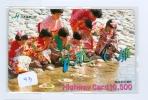 Télécarte JAPON * THAILANDE RELIEE (43) TELEFONKARTE * Phonecard Japan * THAILAND RELATED * Loi Krathong * - Advertising