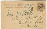 EAST INDIA POST CARD  RAWAL PINDI 3NOV 1903 To BARA RANKI   Little Tear Below - 1852 Sind Province