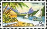 POLYNESIE 1964 - Yv. PA 9 * SUP  Cote= 13,00 EUR - Paysage De Moorea ..Réf.POL11627 - Poste Aérienne