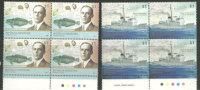ANTARCTIQUE ARGENTIN. Yv.# 2730/31 En Blocs De 4 Neufs **  (naufrage Du Navire ARA Guarani & Expl.Valette.) - Argentine