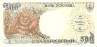 BILLETE DE INDONESIA DE 500 RUPIAH  ORANGUTAN  SIN CIRCULAR  (BANKNOTE) - Indonesia