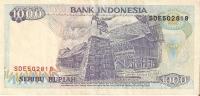 BILLETE DE INDONESIA DE 1000 RUPIAH DEL AÑO 1992  (BANKNOTE) - Indonesia