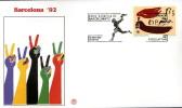 SPAGNA BARCELLONA XXV OLIMPIADE 1992 FDC FILAGRANO #2 - Sommer 1992: Barcelone