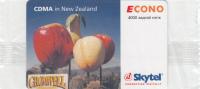 MONGOLIA - CDMA In New Zealand, Skytel Prepaid Card 4000 Units, Exp.date 02/07, Mint