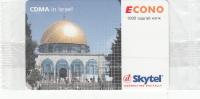 MONGOLIA - Mosque Of Omar, CDMA In Israel, Skytel Prepaid Card 1000 Units, Exp.date 09/07, Mint - Mongolië