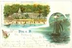 Binz Auf Rügen, Farb-Litho, Mit Seeschloss Binz, 1900 - Rügen
