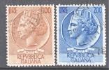 Italy 661-2  (o)   ITALIA - 1946-60: Used