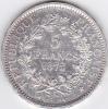 Piece 5 Francs Argent 1873A - - J. 5 Francos