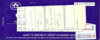 Ticket d�avion -  Brussels-Kuala Lumpur (Malaysia)-Brussels - 13JUL83 - KLM + luggage tags