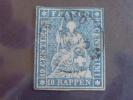 Switzerland Stamp #37 Used XF SON Cancel - 1854-1862 Helvetia (Imperforates)