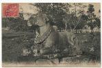 1779 Angkor Thom Boeuf Sacré Cachet Bateau Vapeur 1909 - Cambodge