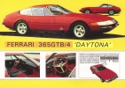 Ferrari 365GTB/4 Daytona  -  Classic Sports Cars  -  Original Manufacturers Illustrations - CPM - Turismo