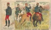 Chromo Chocolat Louit Militaire General De Brigade Arbitres Aux Manoeuvres - Louit