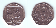 Cyprus 50 Cents 1994 - Chypre