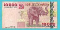 TANZANIA 10000 SHILINGI BANCONOTA CIRCOLATA - Tanzania