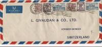 Inde Lettre Par Avion  De 1954 - 1950-59 République