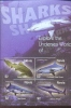 NEVIS   1424 MINT NEVER HINGED MINI SHEET OF FISH-MARINE LIFE  (  SHARKS - Mundo Aquatico