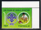 Tuvalu MNH Scott #1043 75c At Campfire - 100 Years Of World Scouting - Tuvalu