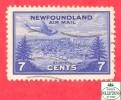 Canada  Newfoundland # C19 Scott /Unisafe - O - 7 Cents - Air Mail - Dated 1933 / Poste Aérienne - Newfoundland