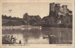 03 - BOURBON -LARCHAMBAULT - CPA  - Le Château Et L'Etang  - Vue Animée - Circulée 1945 - Bourbon L'Archambault