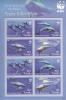 Tuvalu MNH Scott #1022e Miniature Sheet Of 2 Blocks Of 4 Pygmy Killer Whale - Worldwife Fund For Nature - Tuvalu