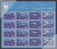 Tuvalu MNH Scott #1022 Sheet Of 4 Strips Of 4 Pygmy Killer Whale - Worldwife Fund For Nature - Tuvalu