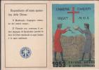 TESSERA DEL 1953 UNIONE DONNE A.C.I AZIONE CATTOLICA DIOCESI GENOVA FORMATO= CHIUSO 12X7,50 APERTO 15X 12 - Collections