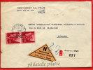 SUISSE LETTRE RECOMMANDEE DU 01/04/1949 DE GENEVE POUR LAUSANNE - Marcophilie