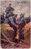 AK OSTERN  MILITARIA HERAUSGEGEBEN VOM F�RSORGEVEREIN F�R TAUBSTUMMBLINDE IN WEIN OLD POSTCARD 1916