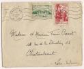 Lettre Maroc Rabat 1950 à Destination Chateaubriant Loire Inférieure - Marruecos (1956-...)