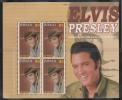 Tuvalu MNH Scott #986 Sheet Of 4 $3 Elvis Presley In Cowboy Hat - 70th Ann Of Birth - Tuvalu