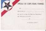 CARTE DE L'AMICALE DU CORPS FRANC POMMIES (RESISTANCE) - Weltkrieg 1939-45