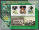 Tuvalu MNH Scott #974 Sheet Of 3 $2 Thomas Berthold, Klaus Augenthaler, Bobby Charlton - Stars Of World Cup Soccer - Tuvalu