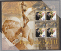 Tuvalu MNH Scott #971 Sheet Of 4 $4 Pope John Paul II With Queen Elizabeth II - Tuvalu